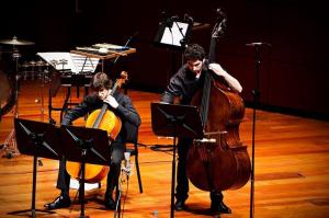 con Collectif PULSAR en la Final del Concurso de Jóvenes Compositores SGAE-CNDM, 2013