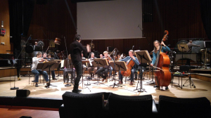 rehearsing with Klangforum Wien at RadioKulturhaus ORF