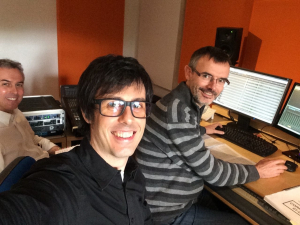 con Bertram Kornacher y Alberto González Lapuente