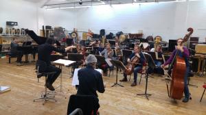 rehearsing with Klangforum Wien and Alberto Posadas