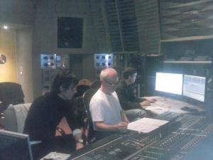 con Ramon Lazkano y Sylvain Cadars trabajando en el STUDIO 8 de IRCAM