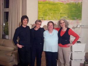 con Gisela Gronemeyer, Maria de Alvear y Carola Bauckholt