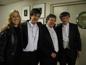 con Doerte Goetzke, Jose Ramón Encinar y Arturo Tamayo / ESTRENO en España de GRUPPEN de Karlheinz Stockhausen
