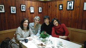 con Esther, Alberto Posadas y Eva Sandoval