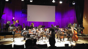 rehearsing with Klangforum Wien at RadioKulturhaus ORF