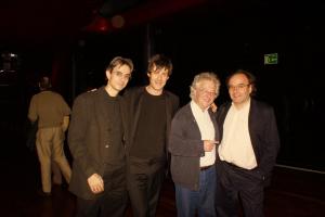 con Alberto Posadas, Félix Ibarrondo y José Manuel López-López