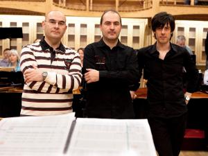 """Con Juan Carlos Asensio y Jesús Torres ensayando """"Apocalipsis"""" con Accentus, Ensemble Residencias y Schola Antiqua"""
