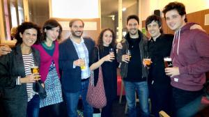 con Virginia Flórez. Eva Sandoval, Esteban Belinchón, Myriam García Fidalgo, Aurelio Edler-Copes y Javier Quislant