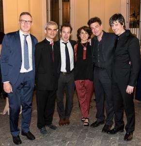 con Gabriel Erkoreka, Dimitri Vassilakis, Fabián Panisello, Rosa Torres Pardo, José M. Sánchez-Verdú