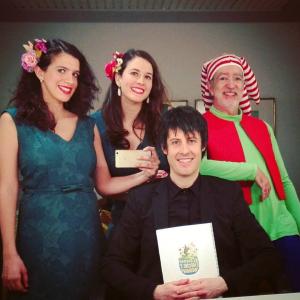 con Beatriz Oleaga, Cristina Teijeiro y Fernando Palacios.