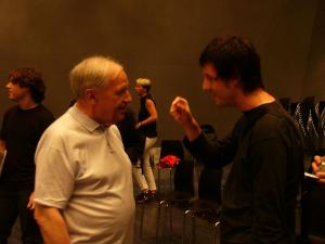 con Pierre Boulez