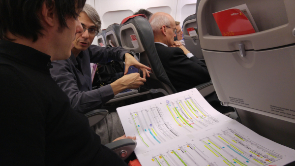 con Alberto Posadas viajando a Viena