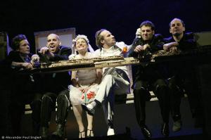 """Ensemble Modern, """"Die Dreigroschenoper], sascha icks, wolfram koch  6317"""