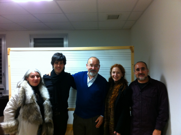 con María Lucas, Salvatore Sciarrino, Rita Cosentino y Agustí Charles