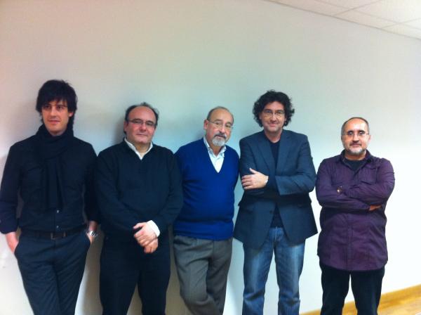 con José Manuel López-López, Salvatore Sciarrino, José M. Sánchez-Verdú y Agustí Charles