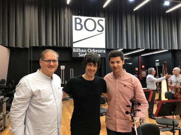 con Charles Bingham y Javier Martínez Campos
