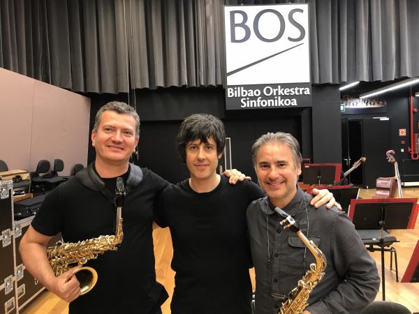 con Josetxo Silguero y Roberto Pacheco