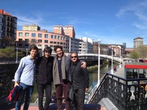 con Ander Tellería, José M. Sánchez-Verdú y Josetxo Silguero