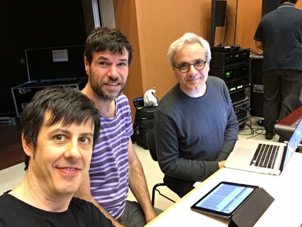 Con Benoit Meudic y Yan Maresz