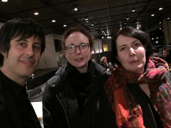 con Rebecca Saunders y Joanna Bailie