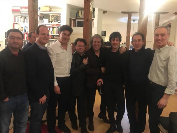 con Pedro Larrosa, Alberto Carretero, José M. Sánchez-Verdú, Mauricio Sotelo, Juanjo Guillem, Fabián Panisello y Fernando García Márquez